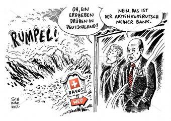 Rekordverlust bei Deutsche Bank : John Cryan fehlt in Davos eine Strategie