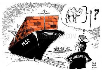 Problem fuer Haefen : Containerschiffe werden immer gigantischer