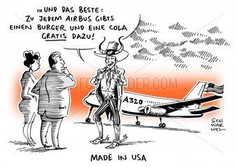 Airbus : Flugzeugbauer eroeffnet erstes Werk in den USA