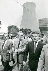 Johannes Rau  Oskar Lafontaine  SPD Wahlkampf  1986