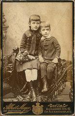 Kinderportrait  Geschwister  1893