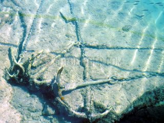 Griechenland Meeresgrund Anker