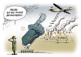 Syrien: EU fordert Stopp der russischen Angriffe auf Rebellen