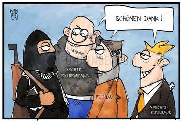 Auftrieb fuer Rechtsextremisten und Populisten
