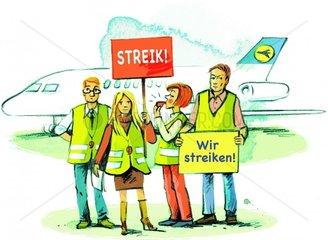 Rechte bei Streik Flugzeug