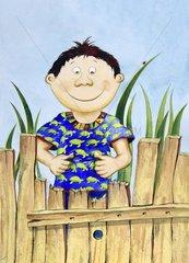 Schildkroeten Junge mit T-Shirt