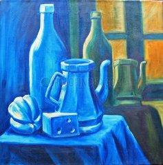 Stillleben in Blau