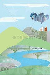 Serie Collage Geldscheine Energie-Strukturwandel