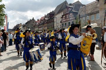 Altdorf  Deutschland  Musikkapelle bei den mittelalterliche Wallenstein-Festspielen
