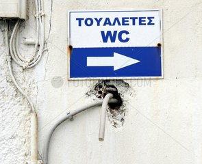 WC Schild Griechenland