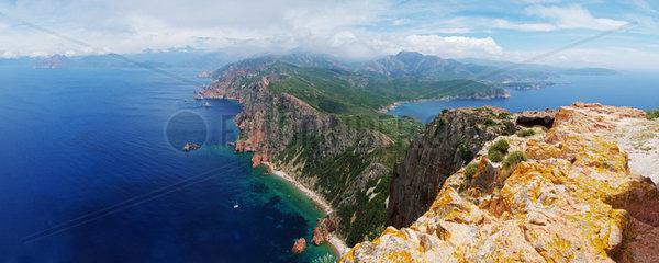 Panoramaausblick vom Capu