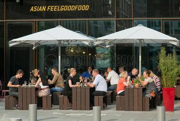 Hamburg  Deutschland  asiatisches Restaurant in der HafenCity