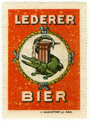 Lederer Bier  Nuernberg  Werbemarke  1912