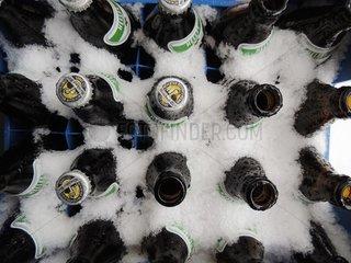 Bierkasten Schnee Winter