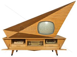 Fernseh-Luxustruhe Kuba Komet 1957