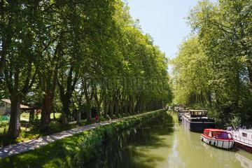 Canal du Midi bei Toulouse  Frankreich