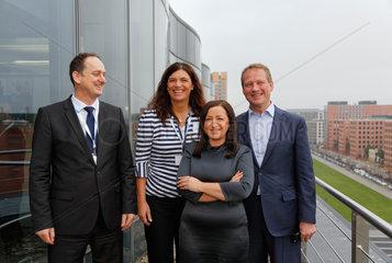 Berlin  Deutschland  Peter Albiez  Annett Enderle  Dilek Kolat und Eric Schweitzer