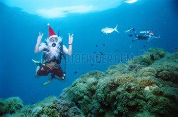 tauchen Weihnachtsmann Weihnachten