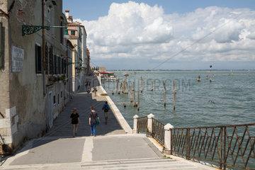 Venedig  Italien  die Promenade an der Fondamenta Nuove