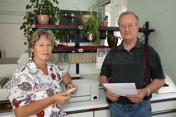 Dr. Christine Frenzel und Professor Dr. Edmund Lengfelder  Otto Hug Strahleninstitut