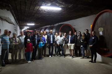Republik Moldau  Touristengruppe  Weinkellerei Cricova SA