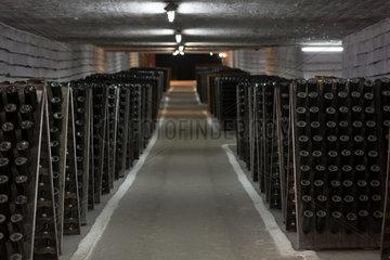 Republik Moldau  zwischengelagerte Flaschen  Weinkellerei Cricova SA