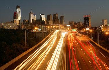 Philadelphia  Blick auf die Skyline von Philadelphia