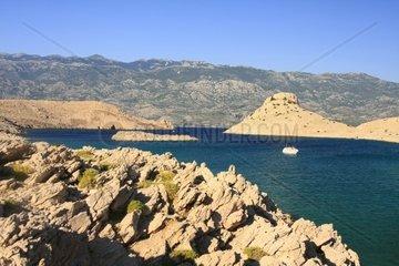 Kroatien  Velebit  Insel Pag  Bucht Veli Svetojanj