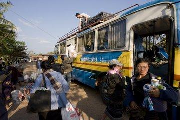 Ankunft mit dem Bus in Savannakhet / Laos / SUEDOSTASIEN-REISE 15.12.2008-0
