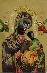 Ikone mit schwarze Madonna