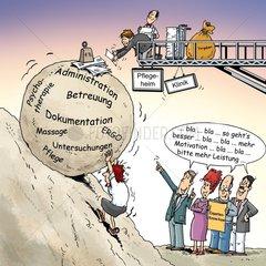 Sisyphusarbeit Pflegeheime und Kliniken