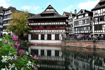 Strassburg  Frankreich  Fachwerkhaeuser im Stadtteil La Petite France