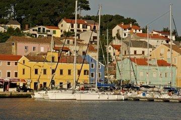 Kroatien  Kvarner  Insel Losinj  Hafen von Mali Losinj