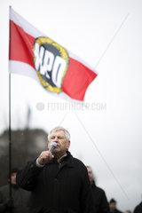 Udo Voigt  NPD-Kundgebung