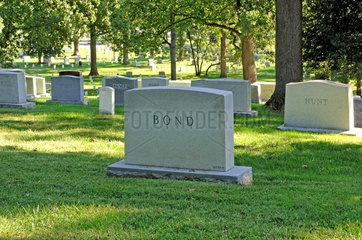 Arlington  USA  Grabsteine auf dem Nationalfriedhof Arlington