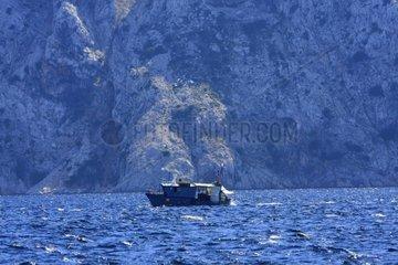 Kroatien  Kvarner  Insel Rab  Fischerboot im NO