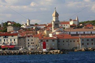 Kroatien  Kvarner  Insel Krk  Stadthafen Krk