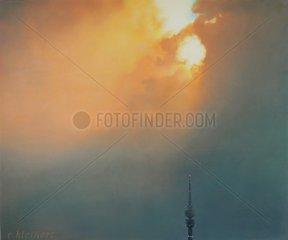 Panorama Muenchen Abend Olympiaturm