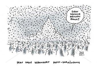 Wintereinbruch in Europa - Papstwahl