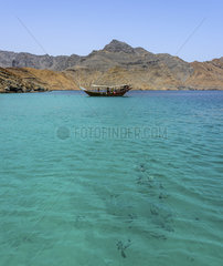Traditional Arabic Dhows  Musandam peninsula  Sultanate of Oman