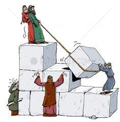 Koenig Salomo erbaut ersten Tempel in Jerusalem