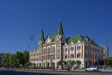 Rathaus von Ujpest dem 4 Budapester Stadtbezirks in Ungarn