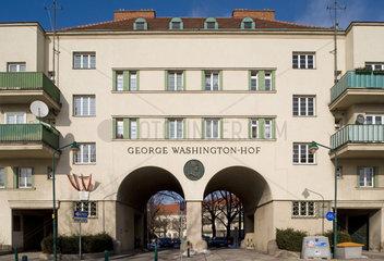 Wien  Oesterreich  der George-Washington-Hof im Wiener Gemeindebezirk Favoriten
