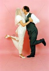 Hochzeitspaar: tanzend