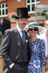 Ascot  Grossbritannien  Damian Lewis  Schauspieler und seine Ehefrau Helen McCrory