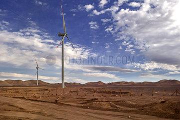 Windraeder in der Atacamawueste