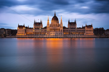 Hungarian Parliament Building at dawn  Budapest