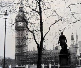 Serie Historische Fotografie London Big Ben 1964