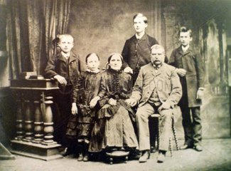 Serie Historische Fotografie Familie 1890
