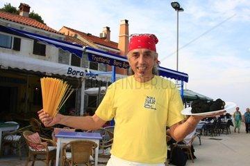 Kroatien  Kvarner  Insel Losinj  Trattoria Bora Bar Rovenska  Chef Marco Sasso
